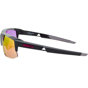 100% Speedcoupe Lunettes, soft tact graphite | purple mirror